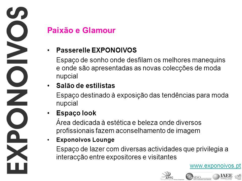 Paixão e Glamour Passerelle EXPONOIVOS Espaço de sonho onde desfilam os melhores manequins e onde são apresentadas as novas colecções de moda nupcial