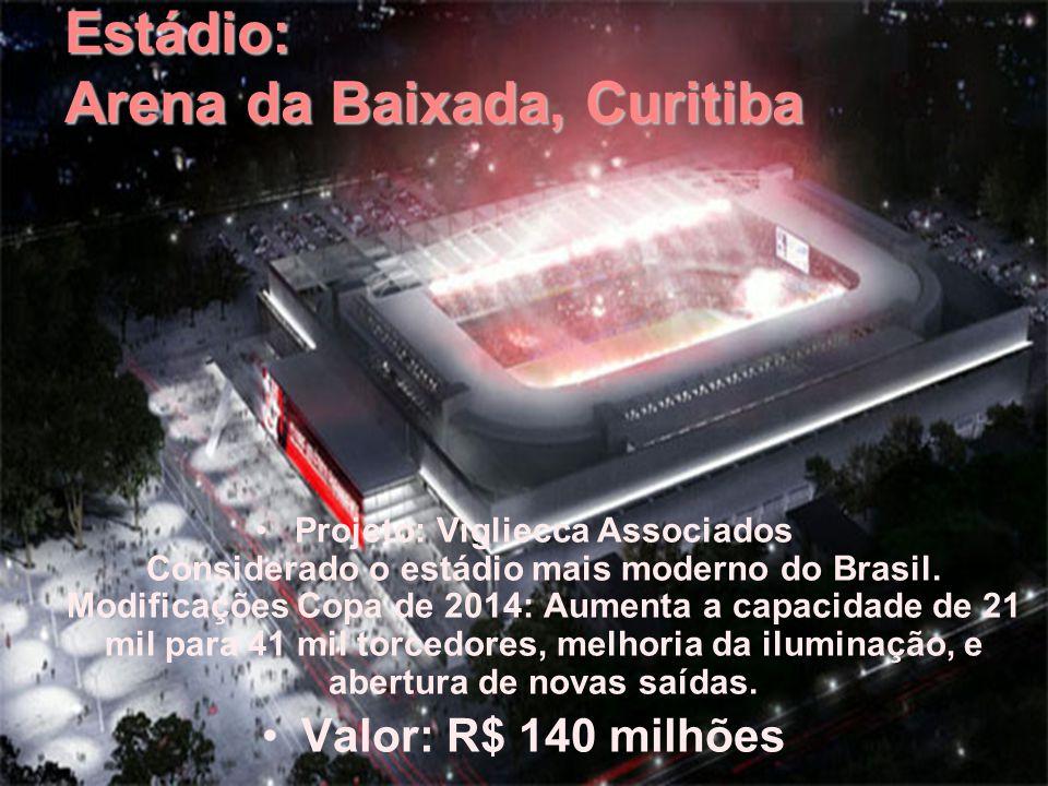 Estádio: Otávio Mangabeira (Fonte Nova), Salvador Pojeto: Marc Duwe e Claas Schulitz O projeto mantem a forma de ferradura, com abertura para o lado s
