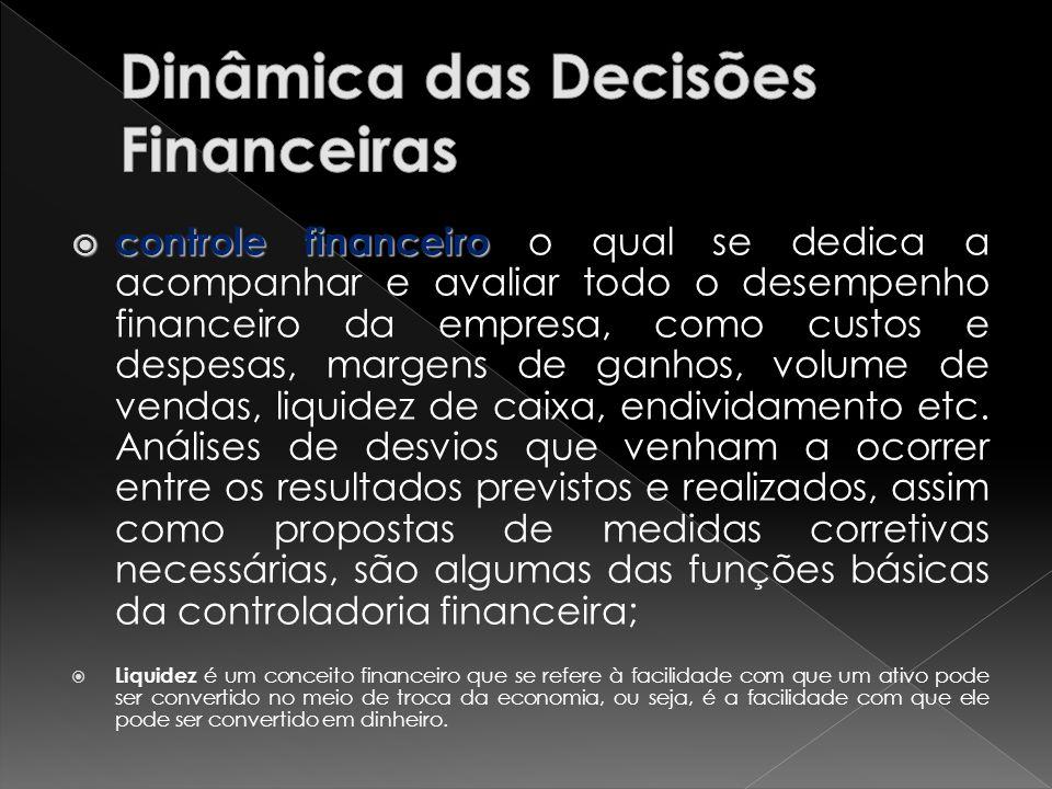 controle financeiro controle financeiro o qual se dedica a acompanhar e avaliar todo o desempenho financeiro da empresa, como custos e despesas, marge