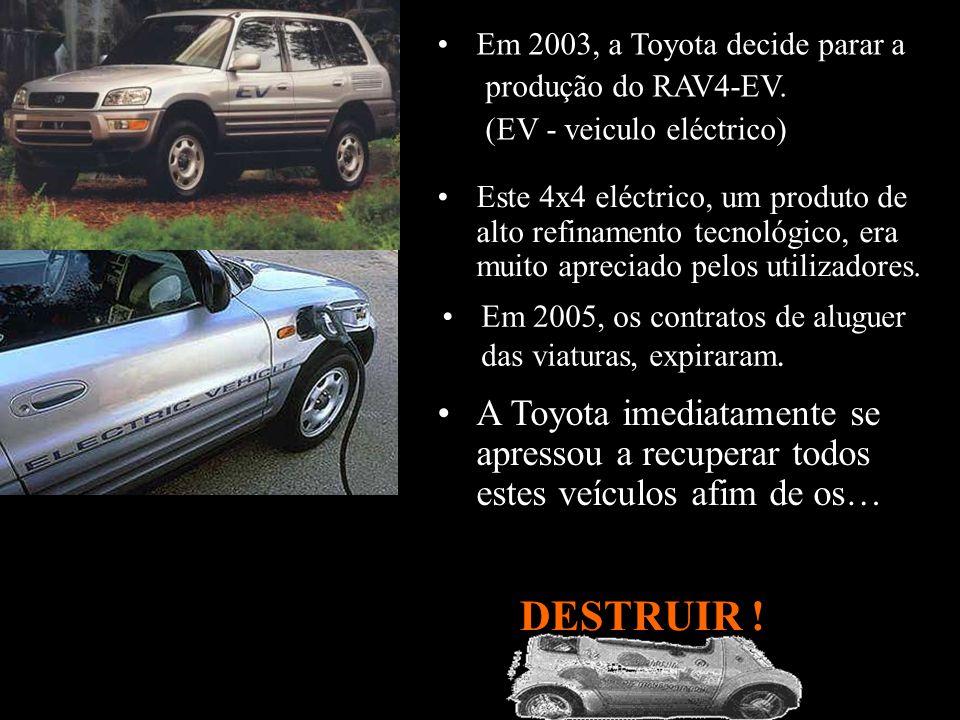 O Município tentou comprar as viaturas mas a Nissan recusou peremptóriamente; DESTRUIR .