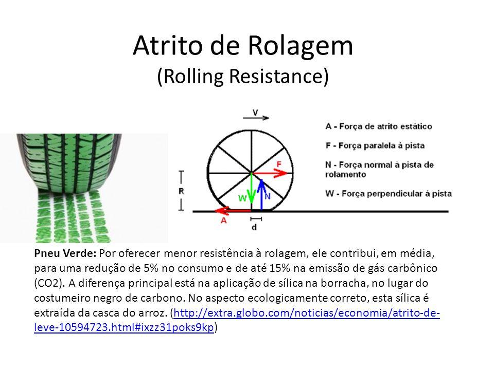 Atrito de Rolagem (Rolling Resistance) Pneu Verde: Por oferecer menor resistência à rolagem, ele contribui, em média, para uma redução de 5% no consum
