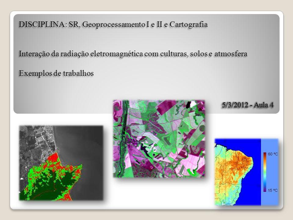 Exemplos de trabalhos O uso de imagens de satélites para mapear lavouras de café tem vantagem e desvantagem.