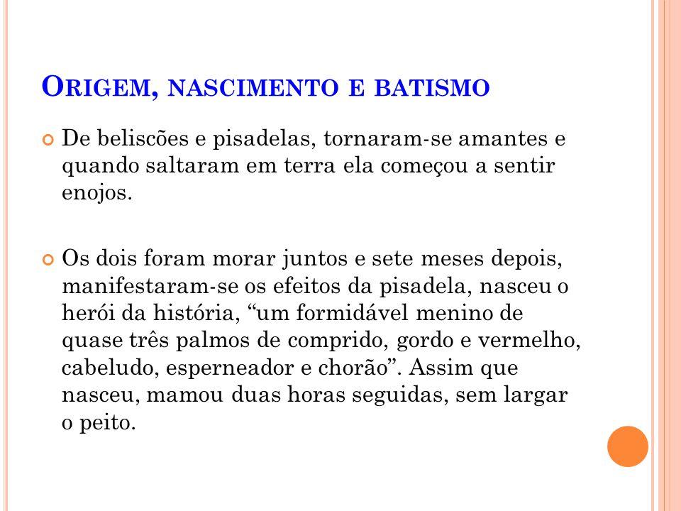 O RIGEM, NASCIMENTO E BATISMO Cansado de ser o Leonardo Algibebe de Lisboa, viera ao Brasil e não se sabe por proteção de quem havia alcançado o posto
