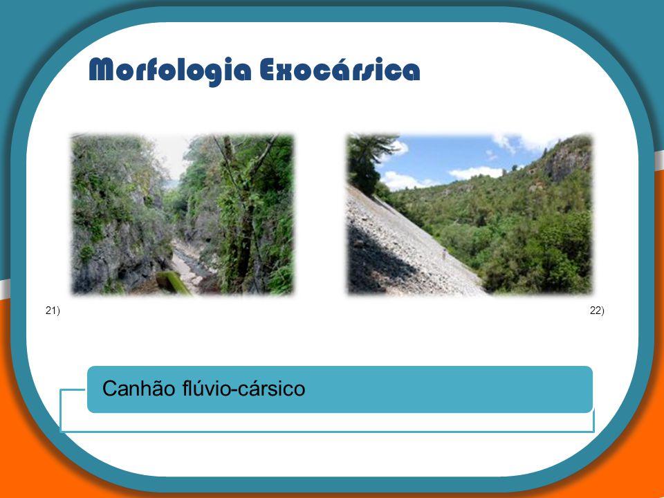 Morfologia Exocársica Canhão flúvio-cársico 21)22)