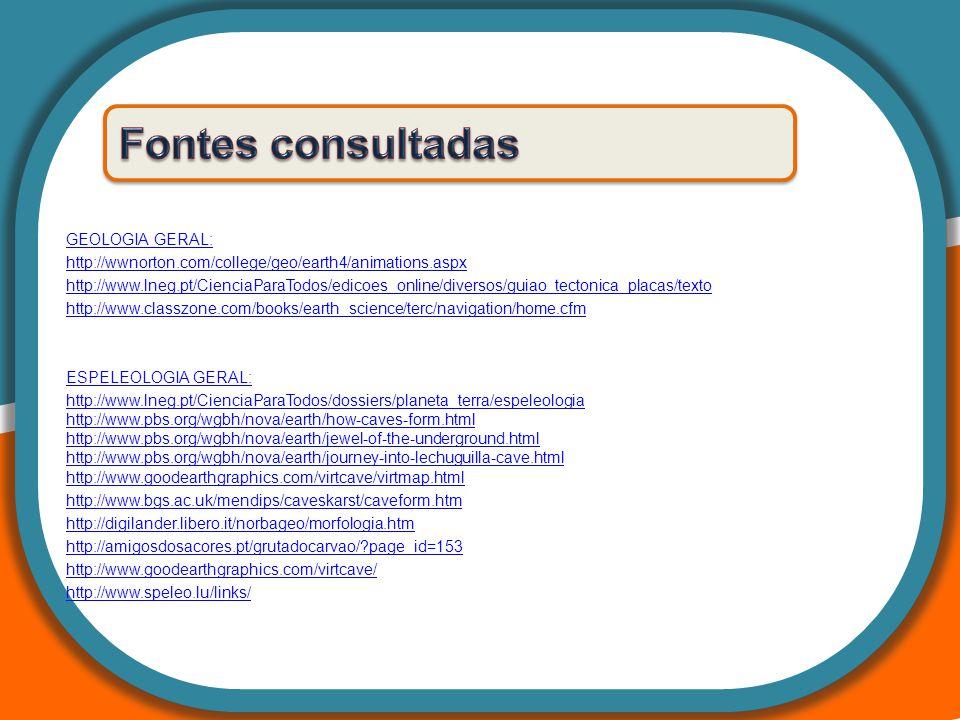 GEOLOGIA GERAL: http://wwnorton.com/college/geo/earth4/animations.aspx http://www.lneg.pt/CienciaParaTodos/edicoes_online/diversos/guiao_tectonica_pla