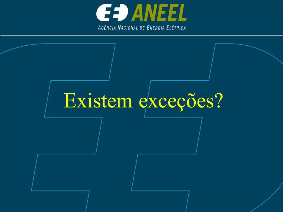 Existem exceções?