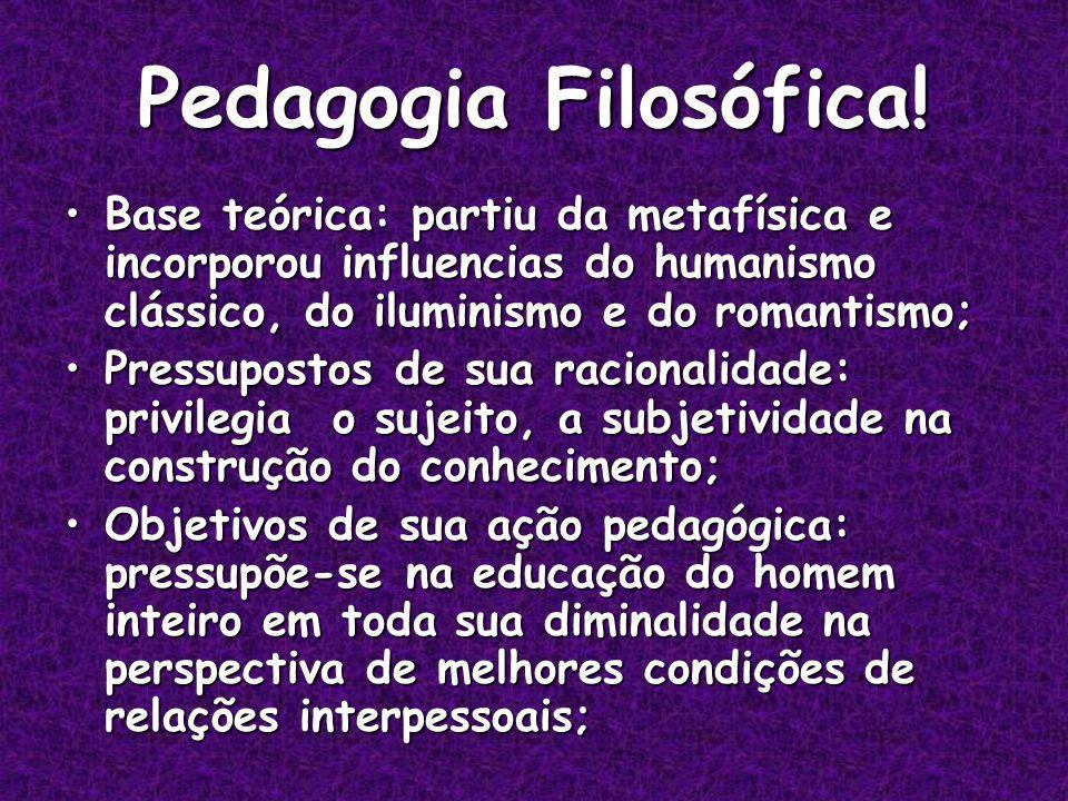Pedagogia Filosófica.