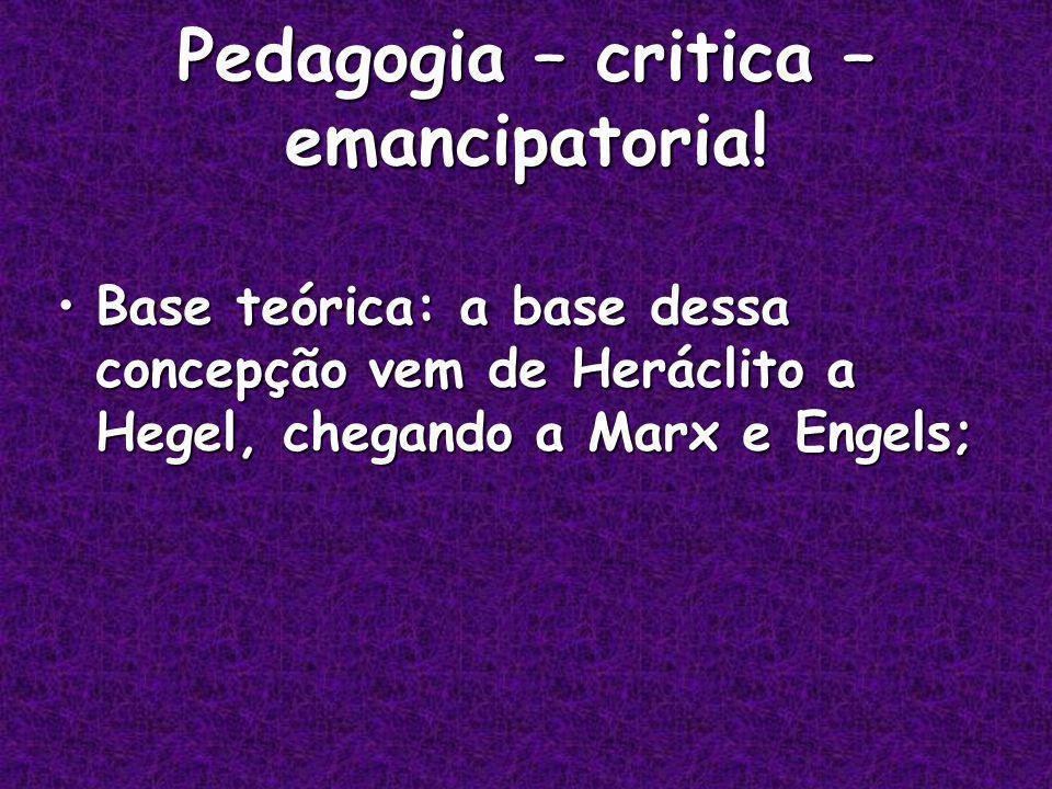 Pedagogia – critica – emancipatoria.