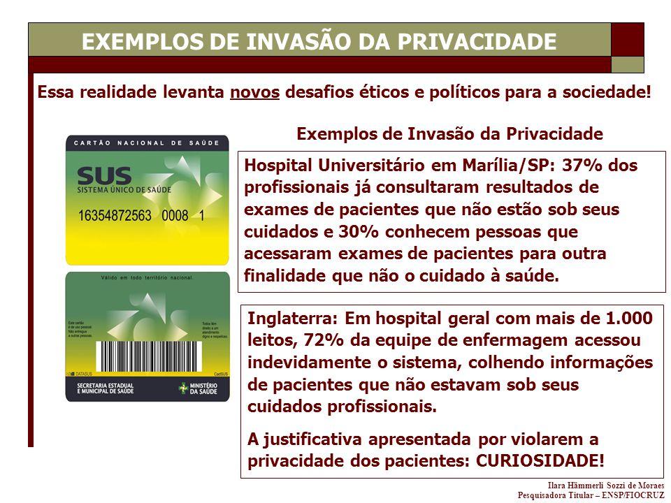 Ilara Hämmerli Sozzi de Moraes Pesquisadora Titular – ENSP/FIOCRUZ Essa realidade levanta novos desafios éticos e políticos para a sociedade! Hospital