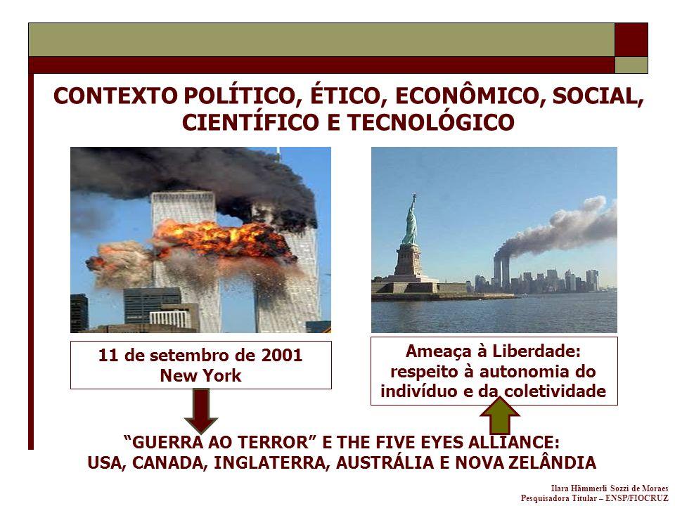 Ilara Hämmerli Sozzi de Moraes Pesquisadora Titular – ENSP/FIOCRUZ 11 de setembro de 2001 New York CONTEXTO POLÍTICO, ÉTICO, ECONÔMICO, SOCIAL, CIENTÍ