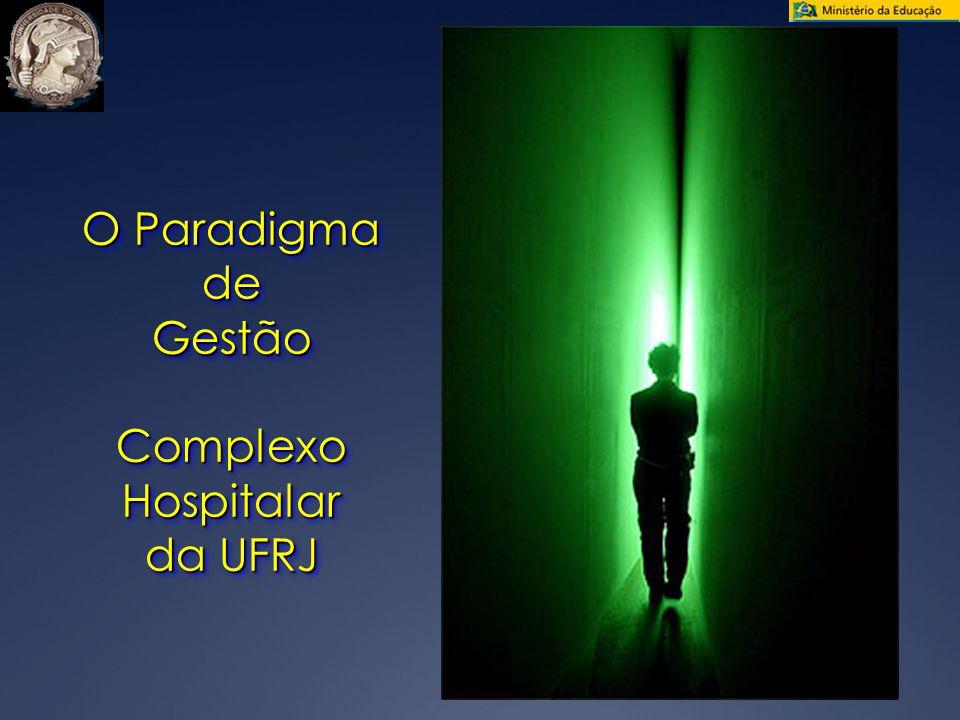 O Paradigma de GestãoComplexoHospitalar da UFRJ O Paradigma de GestãoComplexoHospitalar da UFRJ