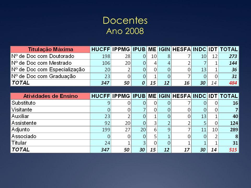 Docentes Ano 2008
