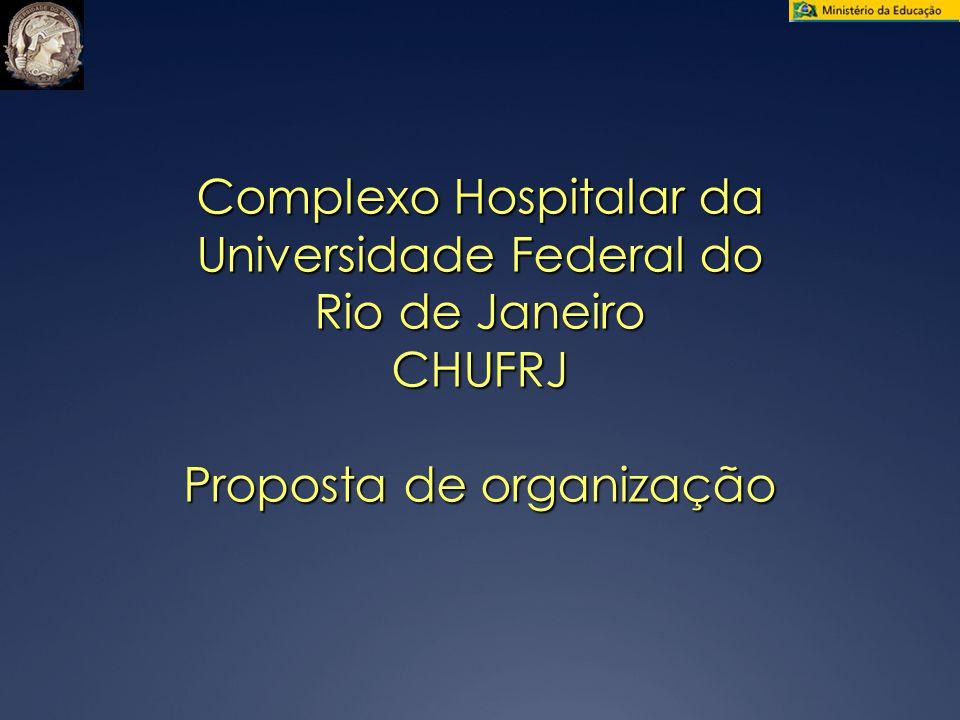 Complexo Hospitalar da Universidade Federal do Rio de Janeiro CHUFRJ Proposta de organização