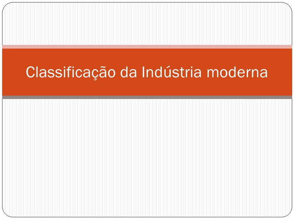 Classificação da Indústria moderna
