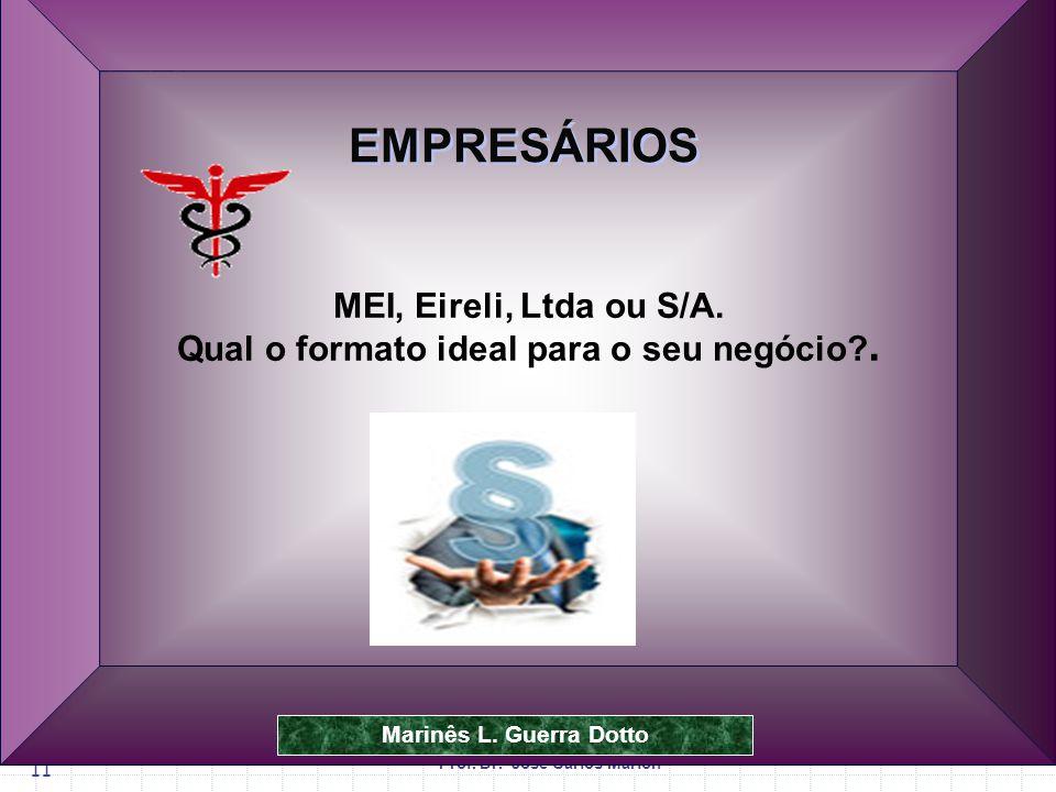 Prof.Dr. José Carlos Marion 11 MEI, Eireli, Ltda ou S/A.