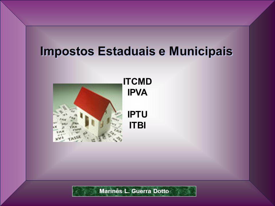 Prof.Dr. José Carlos Marion 46 ITCMD IPVA IPTU ITBI Impostos Estaduais e Municipais Marinês L.