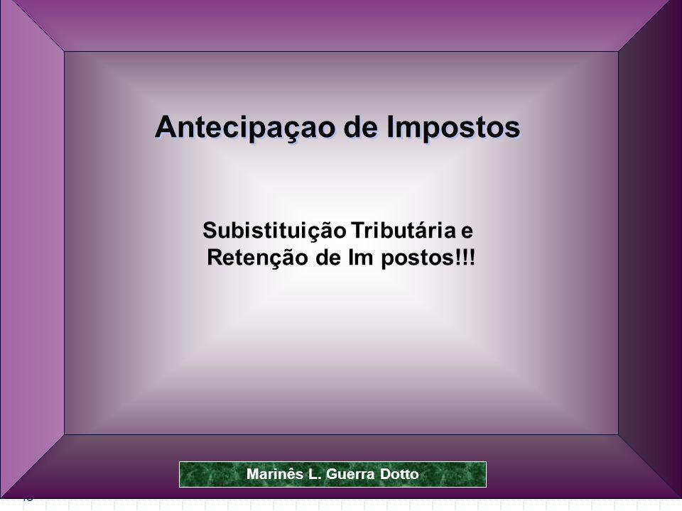 Prof.Dr. José Carlos Marion 48 Subistituição Tributária e Retenção de Im postos!!.