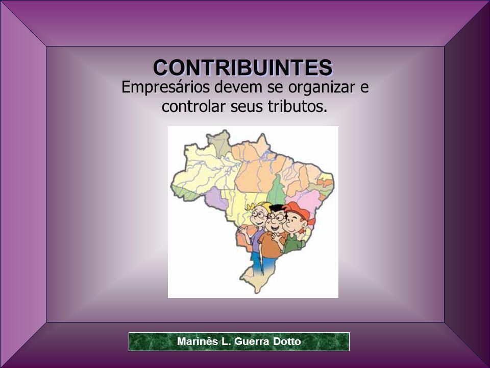 Prof.Dr. José Carlos Marion 9 Empresários devem se organizar e controlar seus tributos.