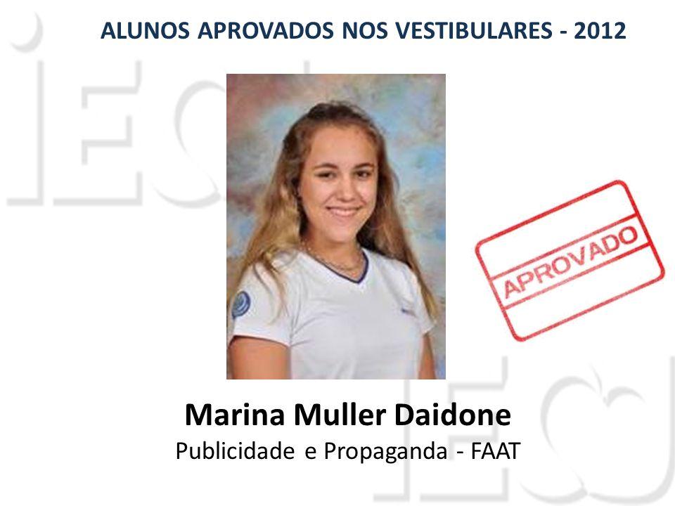 Marina Muller Daidone Publicidade e Propaganda - FAAT