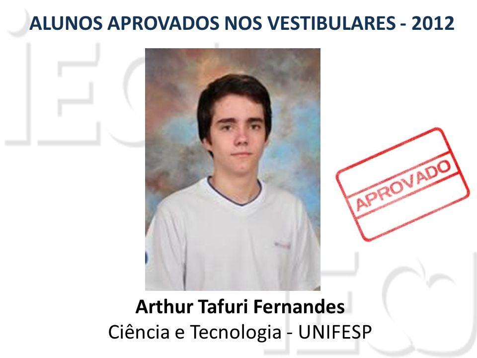 Arthur Tafuri Fernandes Ciência e Tecnologia - UNIFESP