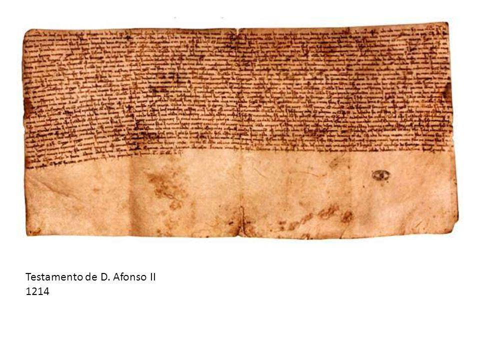 Testamento de D. Afonso II 1214