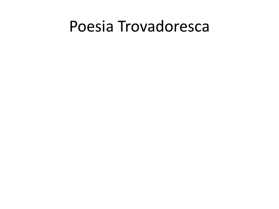 Poesia Trovadoresca