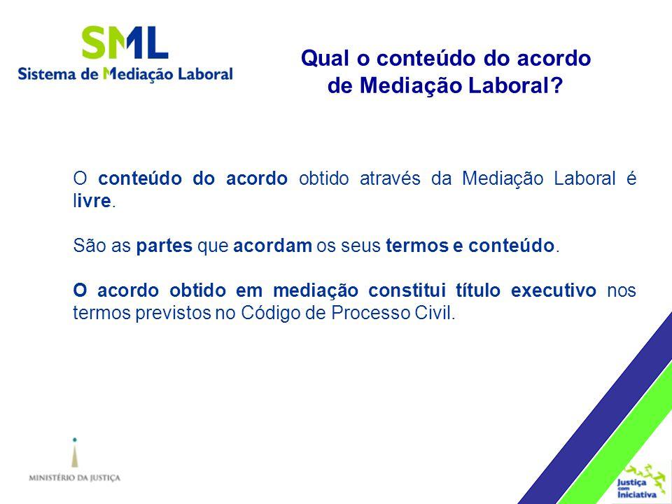 Qual o conteúdo do acordo de Mediação Laboral.