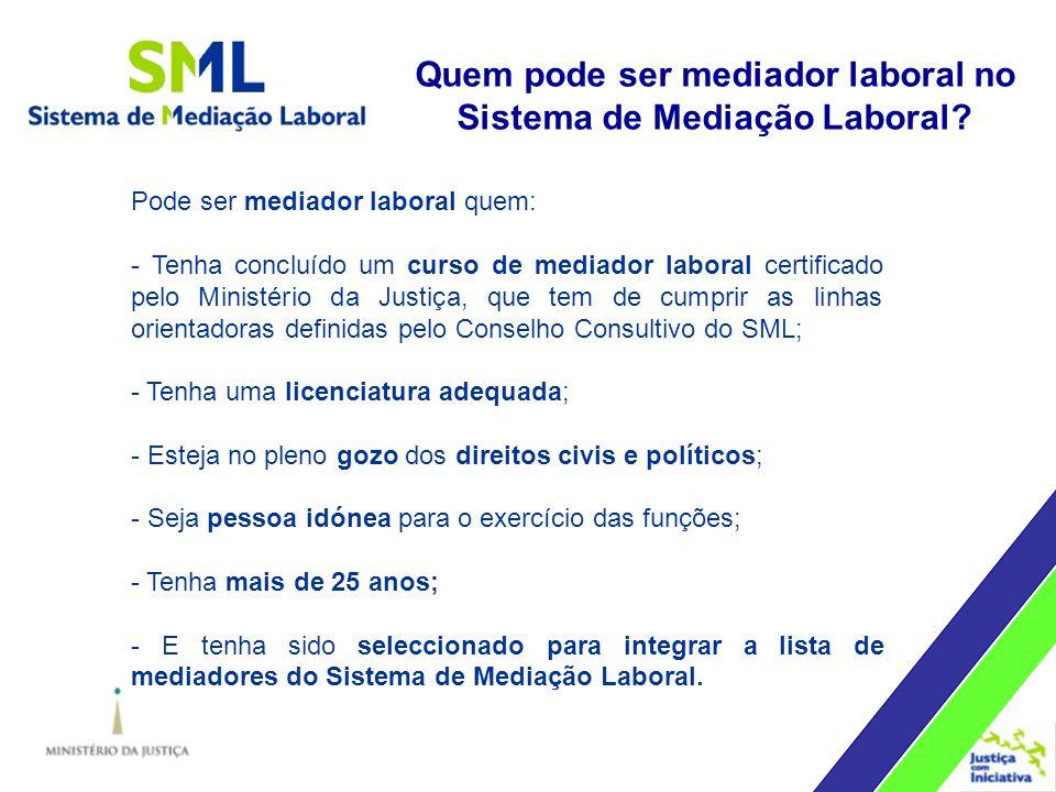Quem pode ser mediador laboral no Sistema de Mediação Laboral.