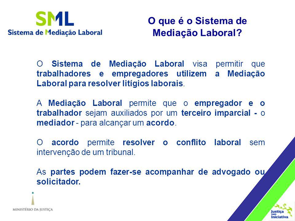 O Sistema de Mediação Laboral visa permitir que trabalhadores e empregadores utilizem a Mediação Laboral para resolver litígios laborais.