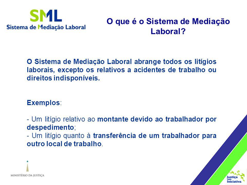 O Sistema de Mediação Laboral abrange todos os litígios laborais, excepto os relativos a acidentes de trabalho ou direitos indisponíveis.