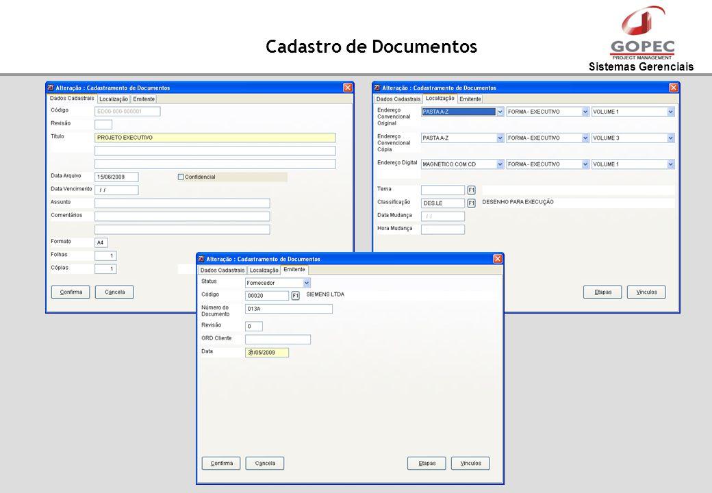 Sistemas Gerenciais Cadastro de Documentos