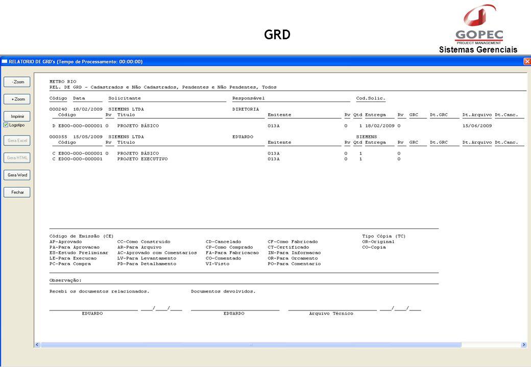 Sistemas Gerenciais GRD