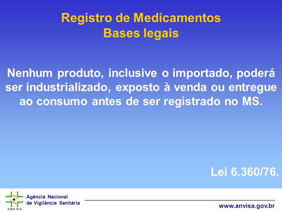 Agência Nacional de Vigilância Sanitária www.anvisa.gov.br Produto biológico: é o medicamento biológico não novo ou conhecido que contém molécula com atividade biológica conhecida, já registrado no Brasil e que tenha passado por todas as etapas de fabricação.