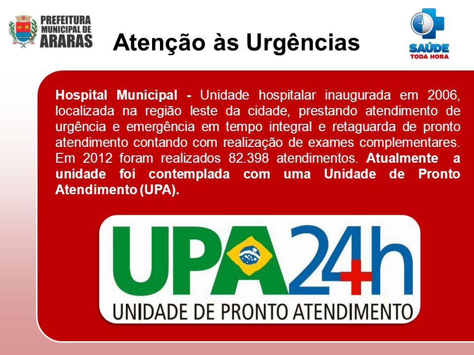 Hospital Municipal - Unidade hospitalar inaugurada em 2006, localizada na região leste da cidade, prestando atendimento de urgência e emergência em te