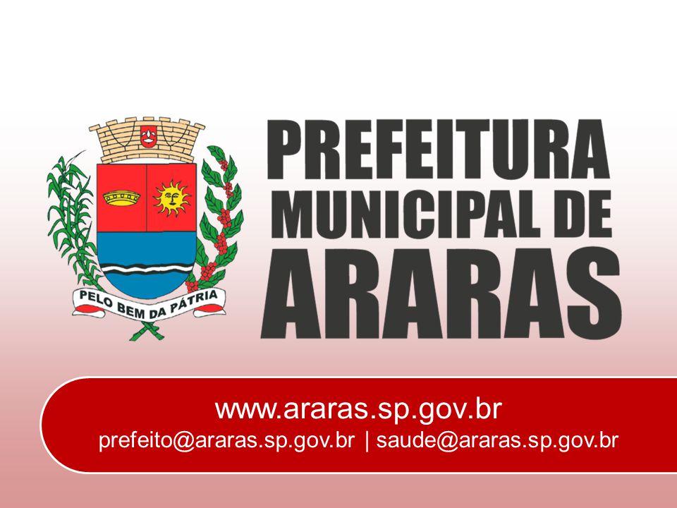 www.araras.sp.gov.br prefeito@araras.sp.gov.br | saude@araras.sp.gov.br