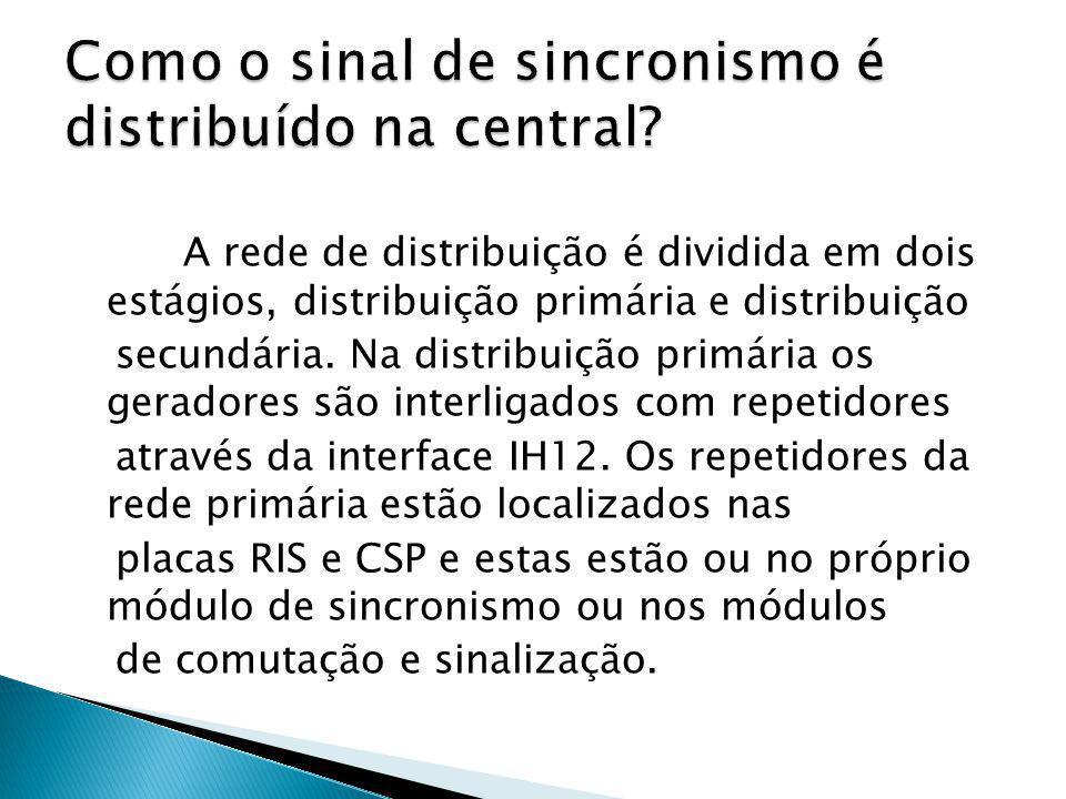 A rede de distribuição é dividida em dois estágios, distribuição primária e distribuição secundária. Na distribuição primária os geradores são interli