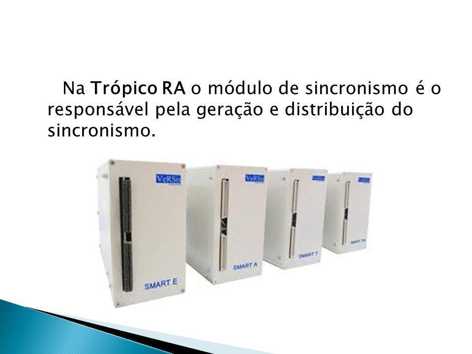 Na Trópico RA o módulo de sincronismo é o responsável pela geração e distribuição do sincronismo.