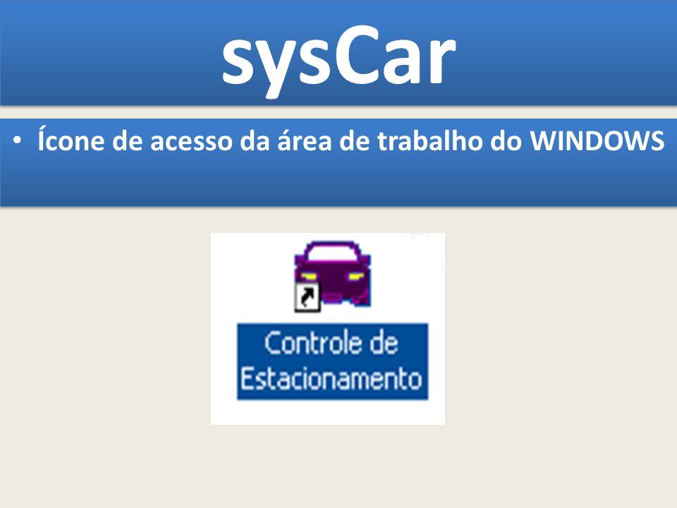 sysCar Ícone de acesso da área de trabalho do WINDOWS