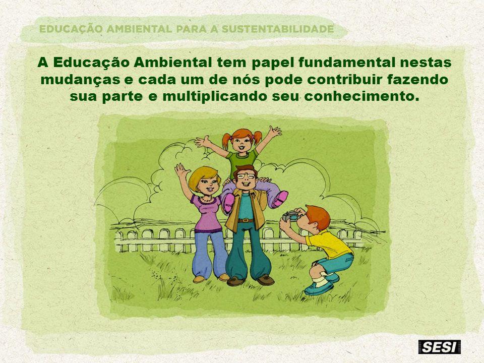 A Educação Ambiental tem papel fundamental nestas mudanças e cada um de nós pode contribuir fazendo sua parte e multiplicando seu conhecimento.