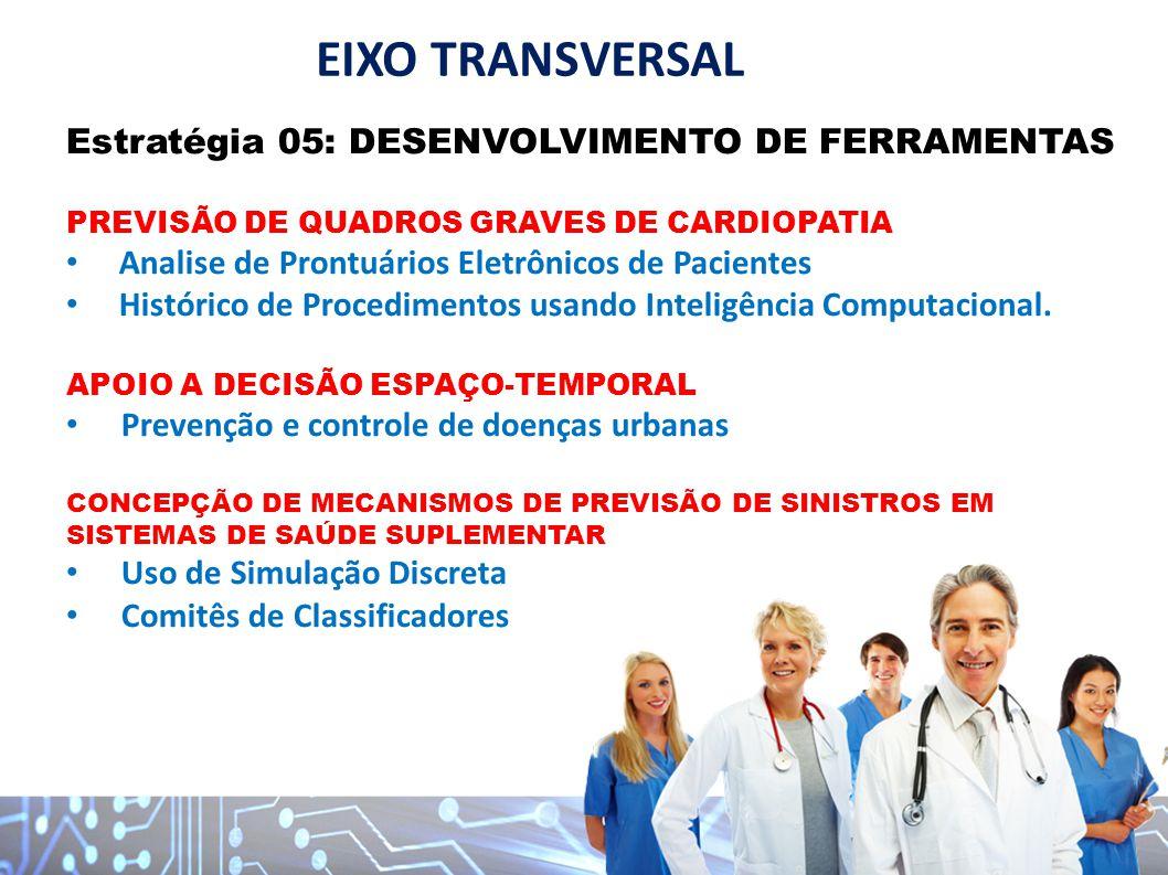 Estratégia 05: DESENVOLVIMENTO DE FERRAMENTAS PREVISÃO DE QUADROS GRAVES DE CARDIOPATIA Analise de Prontuários Eletrônicos de Pacientes Histórico de P