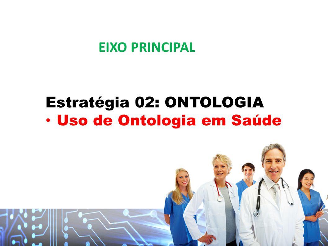 Estratégia 02: ONTOLOGIA Uso de Ontologia em Saúde EIXO PRINCIPAL