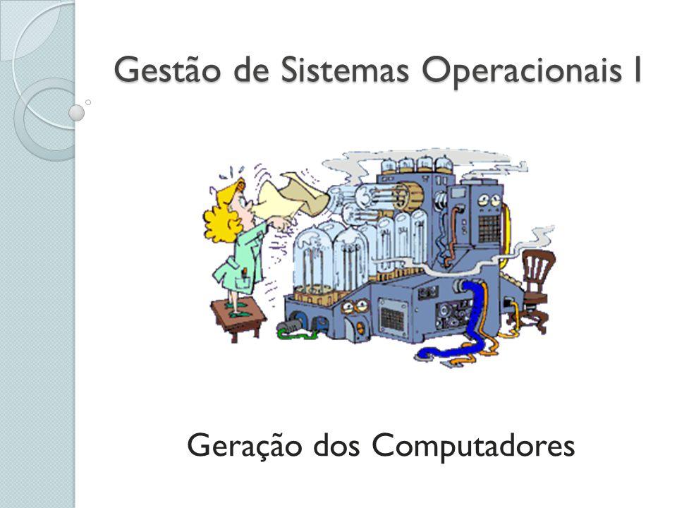 Gestão de Sistemas Operacionais I Geração dos Computadores