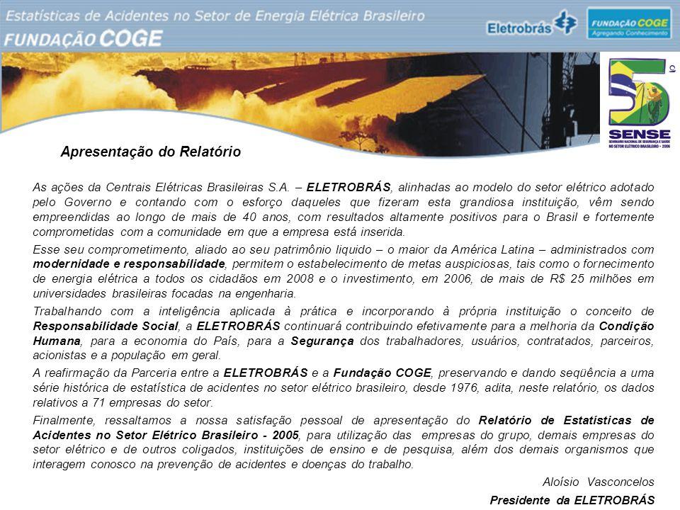 Apresentação do Relatório As ações da Centrais Elétricas Brasileiras S.A. – ELETROBRÁS, alinhadas ao modelo do setor elétrico adotado pelo Governo e c