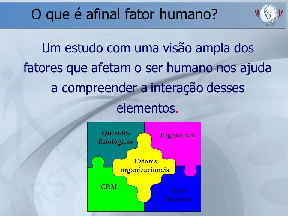 Ergonomia Questões fisiológicas Fatores organizacionais CRM Erro Humano Um estudo com uma visão ampla dos fatores que afetam o ser humano nos ajuda a