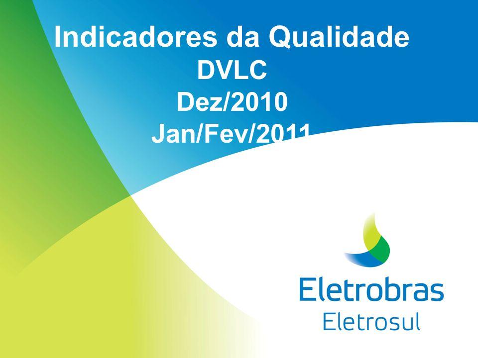 Indicadores da Qualidade DVLC Dez/2010 Jan/Fev/2011