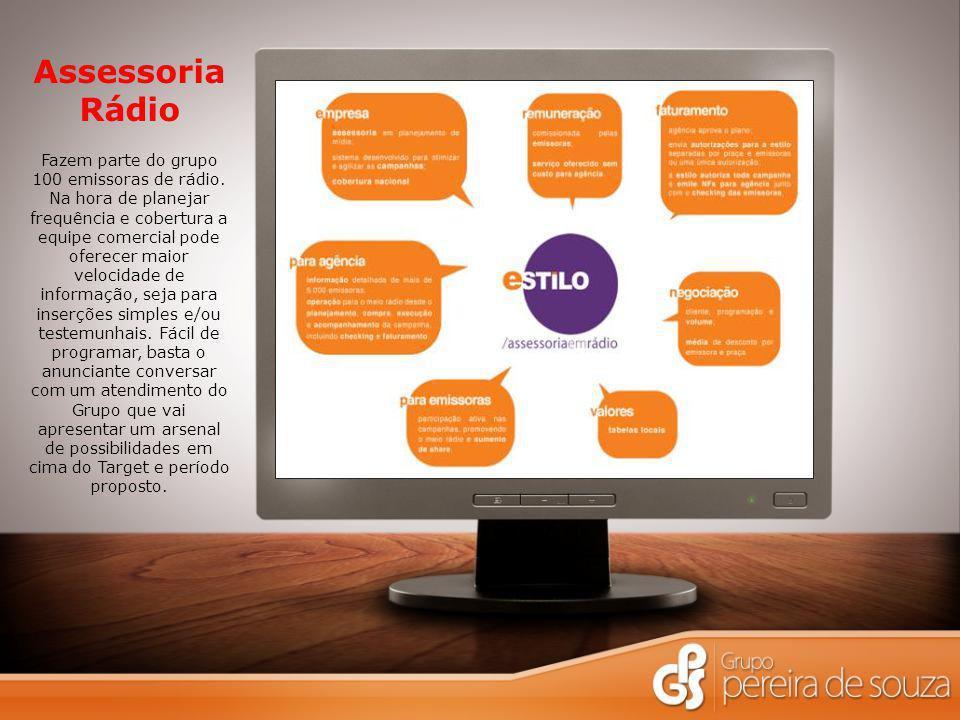 Assessoria Rádio Fazem parte do grupo 100 emissoras de rádio.