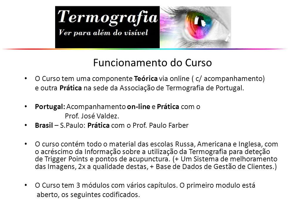 O Curso tem uma componente Teórica via online ( c/ acompanhamento) e outra Prática na sede da Associação de Termografia de Portugal. Portugal: Acompan