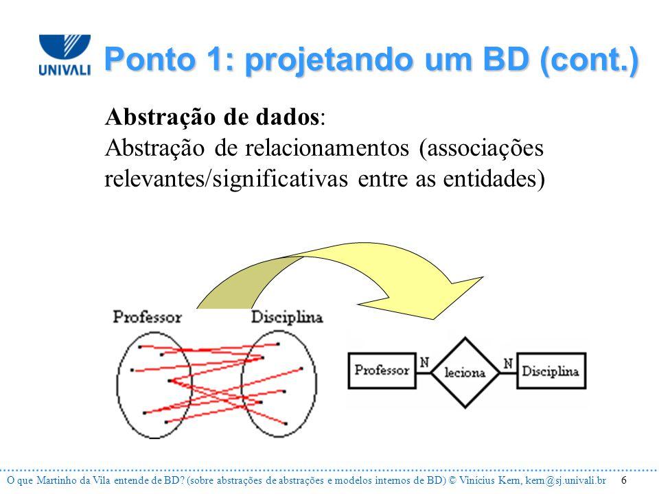 6O que Martinho da Vila entende de BD.