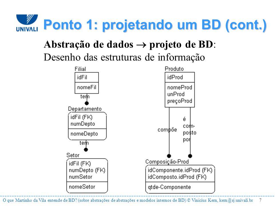 8O que Martinho da Vila entende de BD.
