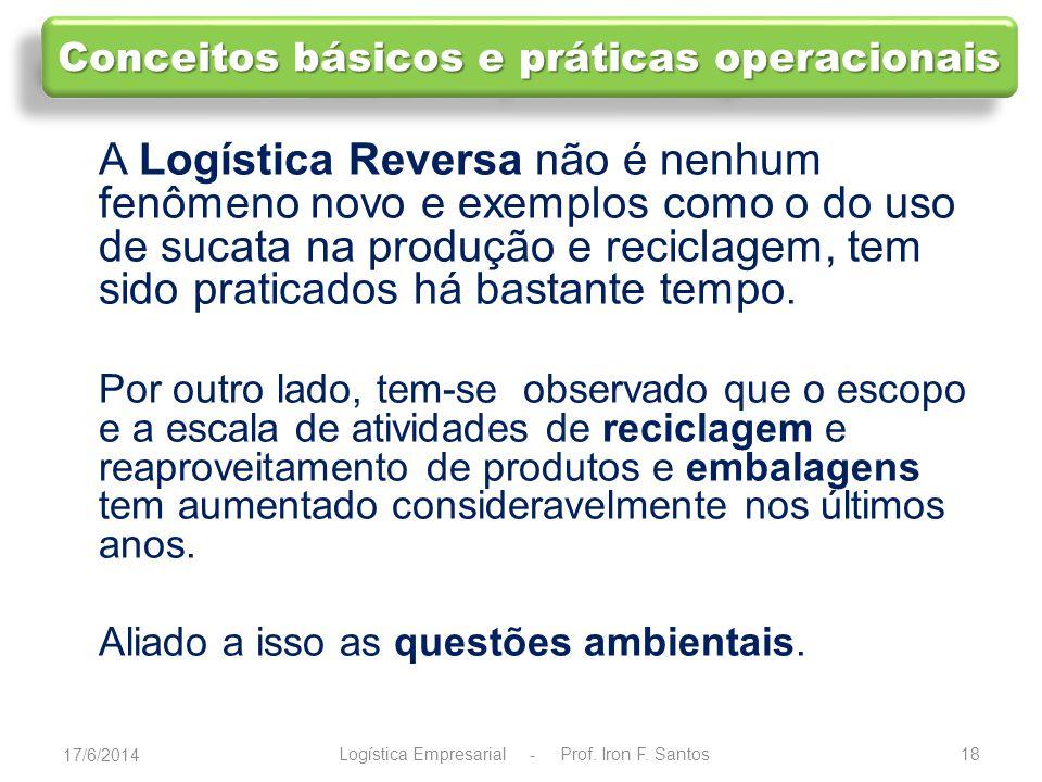 19 Por trás do conceito de Logística Reversa está um conceito mais amplo, que é o do ciclo de vida.